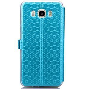 Stars puzdro s okienkom pre mobil Samsung Galaxy J5 (2016) - modré - 3