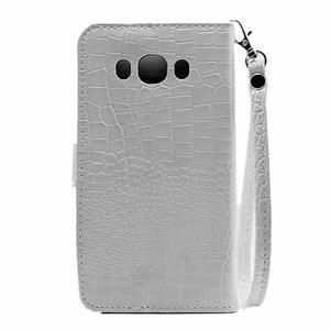 Croco peňaženkové puzdro pre Samsung Galaxy J5 (2016) - biele - 3