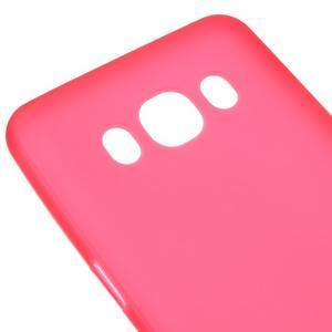 Matný gélový obal pre Samsung Galaxy J5 (2016) - červený - 3