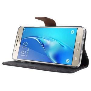 Gentle PU kožené peněženkové pouzdro na Samsung Galaxy J5 (2016) - černé - 3