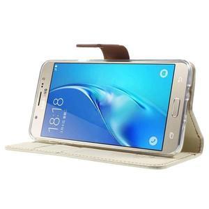 Gentle PU kožené peněženkové pouzdro na Samsung Galaxy J5 (2016) - bílé - 3
