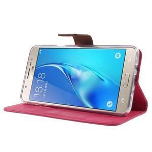 Gentle PU kožené peňaženkové puzdro pre Samsung Galaxy J5 (2016) - rose - 3