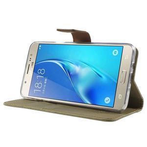 Gentle PU kožené peňaženkové puzdro pre Samsung Galaxy J5 (2016) - khaki - 3