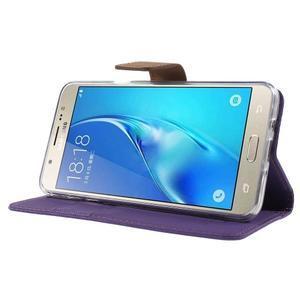 Gentle PU kožené peněženkové pouzdro na Samsung Galaxy J5 (2016) - fialové - 3
