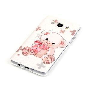 Průhledný obal na mobil Samsung Galaxy J5 (2016) - medvídek - 3