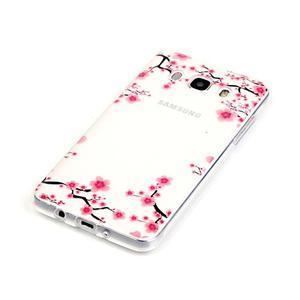 Priehľadný obal pre mobil Samsung Galaxy J5 (2016) - kvitnúca slivka - 3