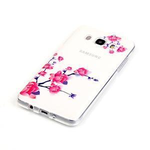 Průhledný obal na mobil Samsung Galaxy J5 (2016) - kvetoucí větvička - 3