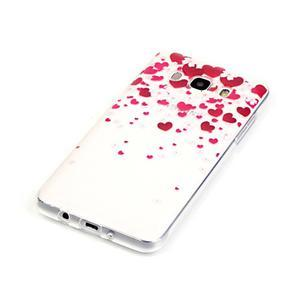 Průhledný obal na mobil Samsung Galaxy J5 (2016) - srdčíka - 3