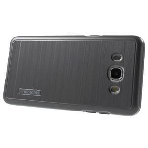Gélový obal s plastovou výstuhou pre Samsung Galaxy J5 (2016) - šedý - 3