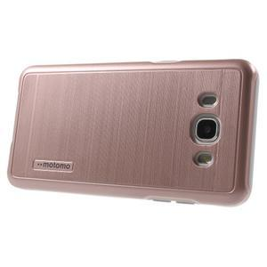 Gélový obal s plastovou výstuhou pre Samsung Galaxy J5 (2016) - ružový - 3
