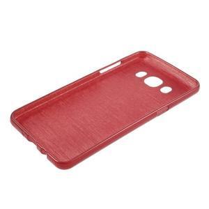 Brushed gélový obal pre mobil Samsung Galaxy J5 (2016) - červený - 3