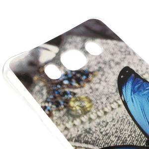 Antišok gelový obal na Samsung Galaxy J5 (2016) - modrý motýl - 3