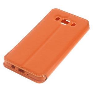 Royal puzdro s okienkom pre Samsung Galaxy J5 (2016) - oranžové - 3
