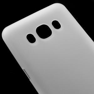 Matný gelový obal na Samsung Galaxy J5 (2016) - bílý - 3