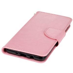 Wall PU kožené puzdro pre Samsung Galaxy J5 (2016) - ružové - 3
