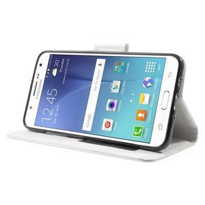 Routy PU kožené pouzdro na Samsung Galaxy J5 (2016) - bílé - 3