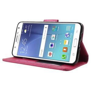 Routy PU kožené pouzdro na Samsung Galaxy J5 (2016) - červené - 3