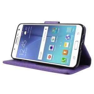 Routy PU kožené pouzdro na Samsung Galaxy J5 (2016) - fialové - 3