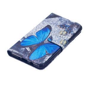 Knížkové pouzdro na mobil Samsung Galaxy J5 (2016) - modrý motýl - 3
