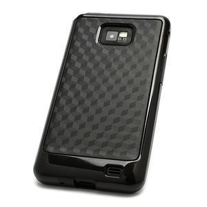 Cube odolný obal pre mobil Samsung Galaxy S2 - čierný - 3