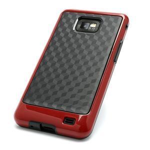 Cube odolný obal pre mobil Samsung Galaxy S2 - červený - 3