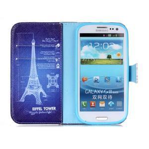 Emotive peňaženkové puzdro pre Samsung Galaxy S3 - Eiffelova veža - 3