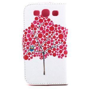 Knížkové puzdro pre mobil Samsung Galaxy S3 - strom soviček - 3