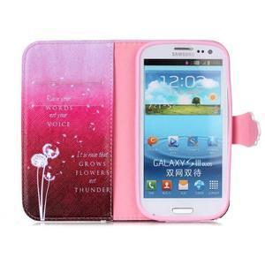 Emotive peňaženkové puzdro pre Samsung Galaxy S3 - púpavy - 3