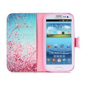 Emotive peňaženkové puzdro pre Samsung Galaxy S3 - kvitnúca slivka - 3