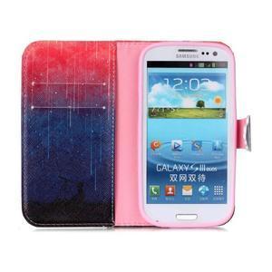 Emotive peňaženkové puzdro pre Samsung Galaxy S3 - meteory - 3