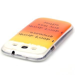 Gélový obal pre mobil Samsung Galaxy S3 - drink - 3