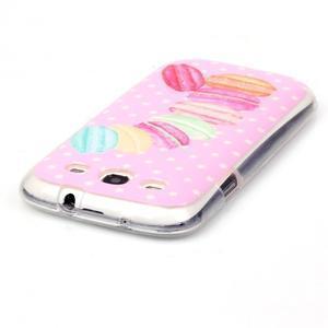 Gélový obal pre mobil Samsung Galaxy S3 - makrónky - 3
