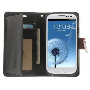 RichDiary PU kožené pouzdro na Samsung Galaxy S3 - hnědé - 3
