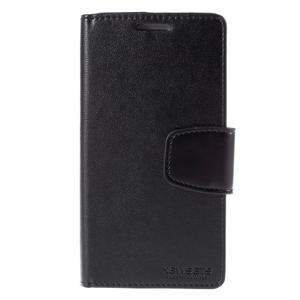 Diary PU kožené puzdro pre mobil Samsung Galaxy S3 - čierne - 3