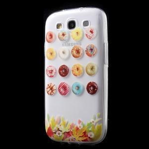 Ultratenký gélový obal pre mobil Samsung Galaxy S3 - donuts - 3