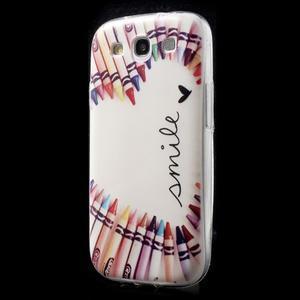 Ultratenký gelový obal na mobil Samsung Galaxy S3 - smile - 3