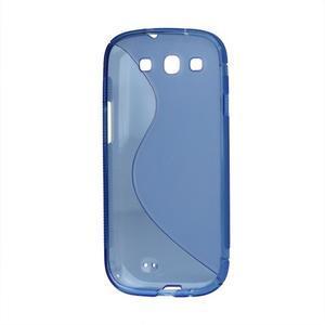 S-line gélový obal pre Samsung Galaxy S3 - modrý - 3