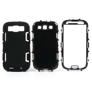 Odolné silikonové pouzdro na mobil Samsung Galaxy S3 - černé - 3