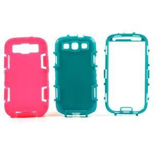 Odolné silikonové puzdro pre mobil Samsung Galaxy S3 - rose - 3