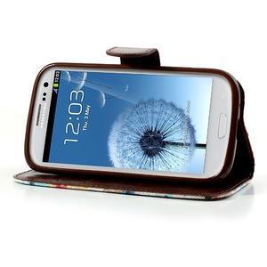 Květinové pouzdro na mobil Samsung Galaxy S3 - bílé poazdí - 3