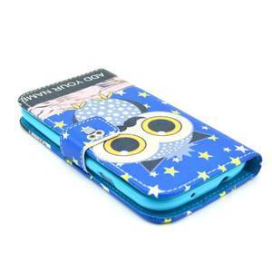 Pictu puzdro pre mobil Samsung Galaxy S3 - sova s vousem - 3
