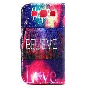 Knížkové puzdro pre mobil Samsung Galaxy S3 - believe - 3