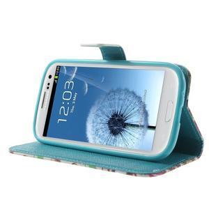 Knížečkové puzdro pre Samsung Galaxy S3 - autíčka - 3
