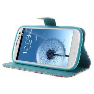 Knížečkové puzdro pre Samsung Galaxy S3 - tlapky - 3