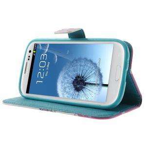 Knížečkové puzdro pre Samsung Galaxy S3 - kvitnúca vetvička - 3