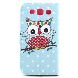 Knížkové puzdro pre mobil Samsung Galaxy S3 - sova - 3