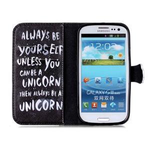 Emotive peněženkové pouzdro na Samsung Galaxy S3 - unicorn - 3