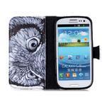 Emotive peňaženkové puzdro pre Samsung Galaxy S3 - sova - 3/6