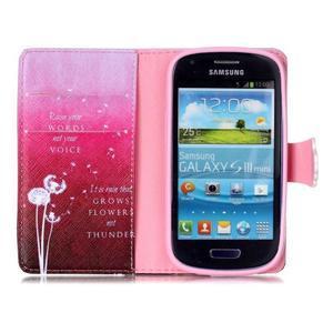 Emotive puzdro pre mobil Samsung Galaxy S3 mini - púpavy - 3