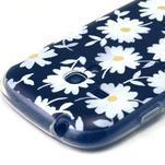 Gloss gelový kryt na Samsung Galaxy S3 mini - sedmikrásky (černé pozadí) - 3/4